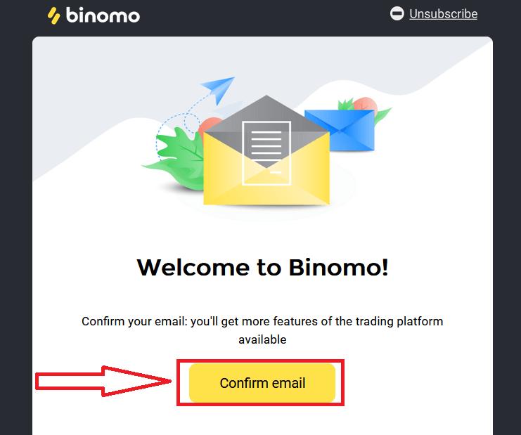 如何在 Binomo 注册和提取资金