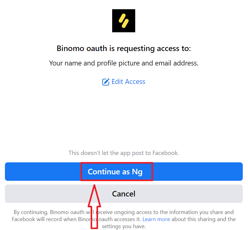 如何在 Binomo 交易中注册和登录账户