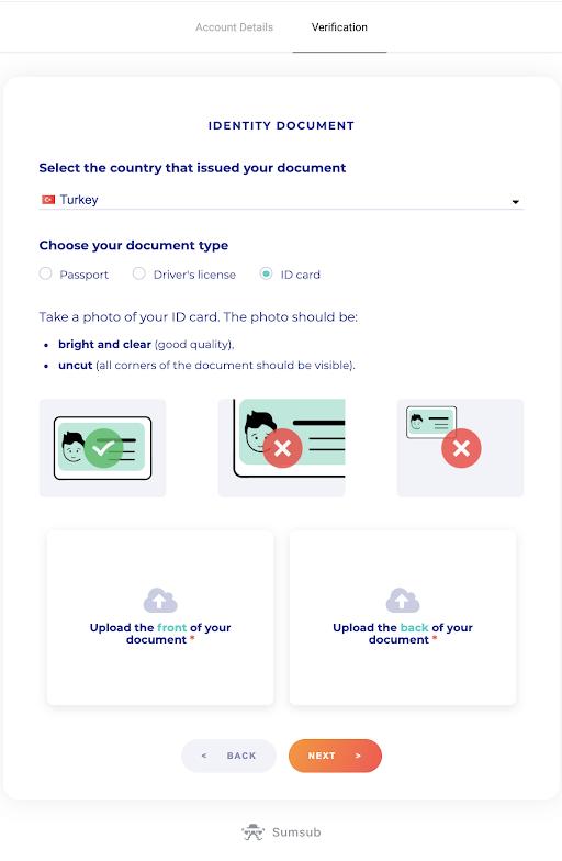如何在 Binomo 中验证帐户